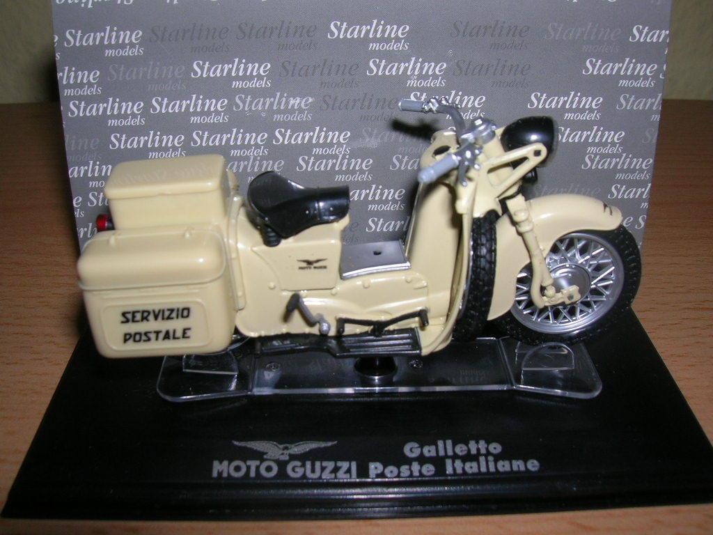 STARLINE MOTO MOTO MOTO GUZZI Galletto Poste Italiane Italien 1 24 NEUF + emballage 3959ab