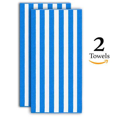 "Oversized Beach Towel 30/""x60/"" Ultra Plush Absorbent Cotton New Trove Linens"