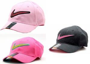 Nike-Girl-039-s-Embroidered-Nike-Swoosh-Logo-Baseball-Cap-Sz-4-6X