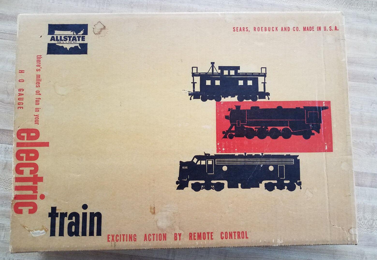 ALLSTATE MARX 9942 NEW HAVEN  HUSKY HO TRAIN SET w SOLID ORIGINAL BOX +