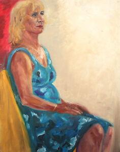 iMPRESSIONIST WOMAN PORTRAIT OIL PAINTING
