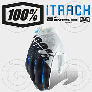 GUANTI-100-ITRACK-MX-WHITE-STEEL-GRAY-ADULTO-MOTOCROSS-ENDURO-OFF-ROAD-ATV-MTB