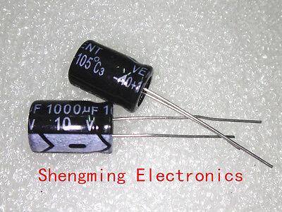 100pcs 1000uF 10V Electrolytic Capacitor 10V1000UF 8x12mm