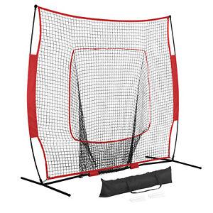 Durable-Baseball-Softball-Practice-Hitting-Batting-Training-Net-7x7-w-Carry-Bag
