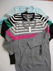 NWT Banana Republic Stripe Crew Sweater Your Choice Pink / Blue Dark / Baby Blue