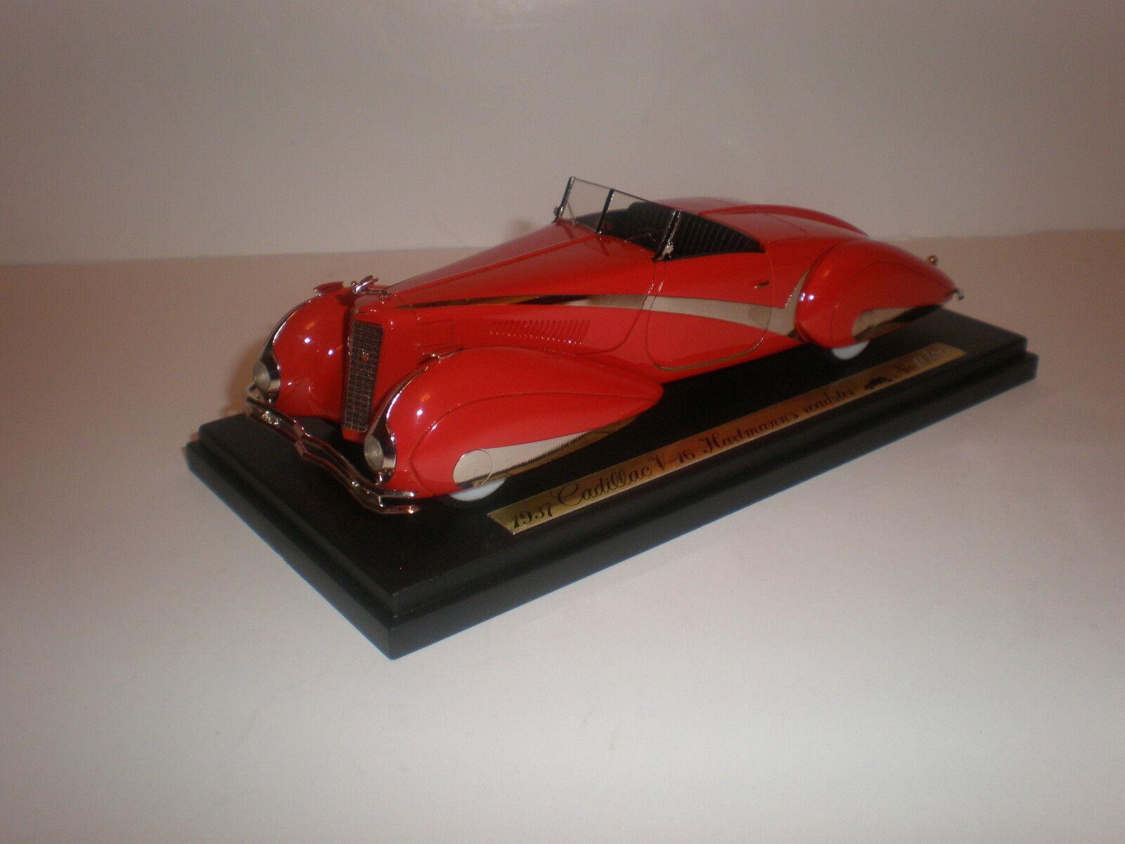 1937 Cadillac V-16 de EMC Hartmann's Roadster tapa abajoRojo