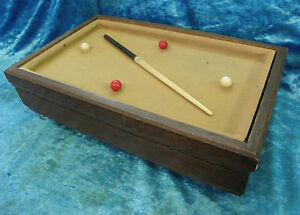 Vintage Retro Jewelry What Not Box Billiard Pool Table Cue Stick - Retro pool table
