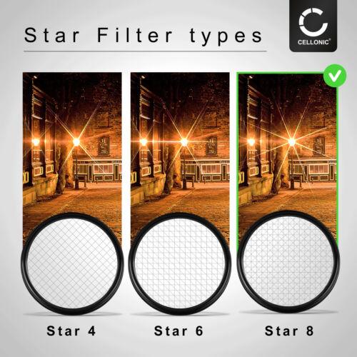 Filtro de estrella 8 pt 52mm para Pentax ahí SMC 18-55mm 3.5-5.6 al