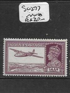 INDIA (P1605B) KGVI 14A AIRPLANE SG 277 MNH
