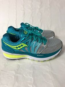 ed352f8a Details about Women's Saucony Hurricane ISO 2 Everun Shoes Sneaker, Silver  Green Size 5