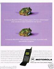 Publicité advertising 1997 Le Telephone portable Motorola