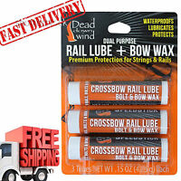 Crossbow Arrows String Lube Wax 3 Pack Kits Targets Rail Bow Accessories