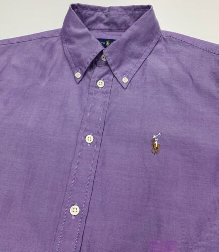 Camicia In Ralph Oxford Purple Fit Chambray Lauren Custom AzZxA