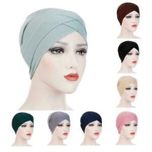 Women-Muslim-Hijab-Cotton-Stretchy-Hat-Turban-Head-Wrap-Bandana-Caps-Scarf-L6V6