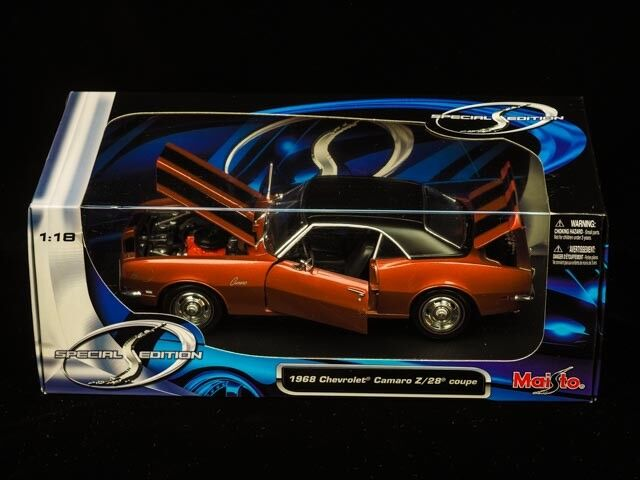 1968 Chevrolet Camaro Z Z Z 28 Coupe, Die Cast Metal Car Model. 903dd3