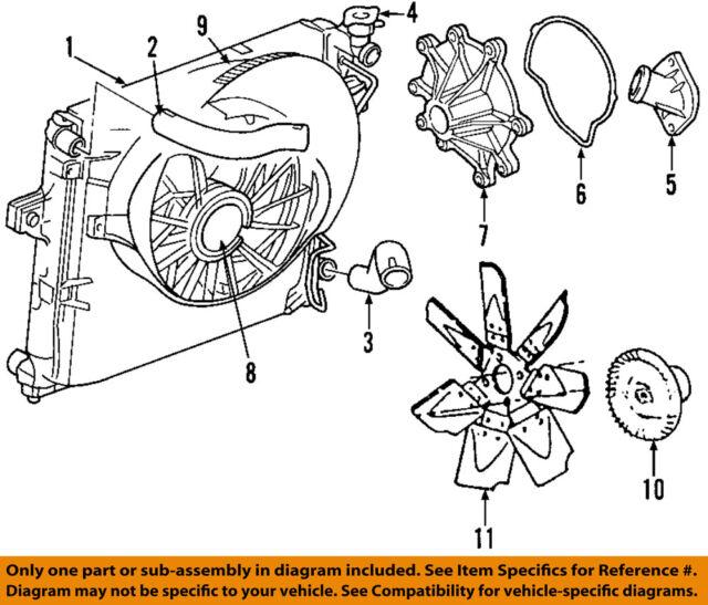 Factory Oem Genuine Jeep Mopar 5143209ac Radiator Cooling Fan Shroud