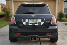 Mini Cooper R56 Trunk Graphic - Black and White Checker Flag Decal