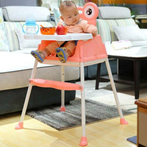 Foldable Baby Toddler Infant High chair Feeding Recliner Seat Chair UK