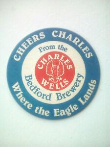 Vintage-CHARLES-WELLS-BALLOON-RACE-Cat-No-039-102-Beermat-Coaster