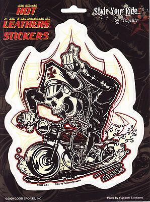 Adesivo Sticker Modello Skeleton Biker Dimensioni 16,5 Cm A 13,8 Cm-