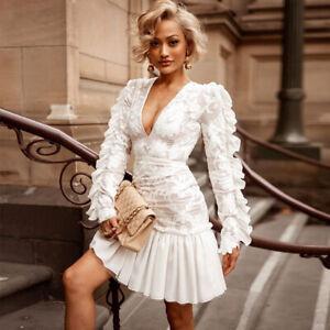 SEXY-Damen-Mini-Tanz-Kleid-Minikleid-Abendkleid-Ballkleid-Clubwear-Spitze-BC810