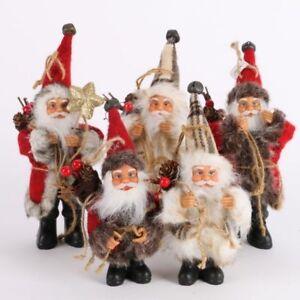 GIOCATTOLI-Di-Natale-Babbo-Natale-Bambola-Panno-di-materiale-per-la-casa-albero-decorazioni-regali