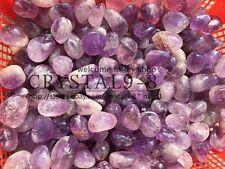 number of AMETHYST 20-30mm tumbled 1/2 lb bulk stones / Wholesale