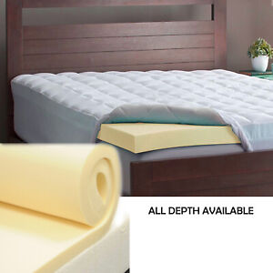 Memory Foam Mattress Topper.Details About Memory Foam Mattress Toppers V50 Kg Density 3 Depth Roll Packed Sale