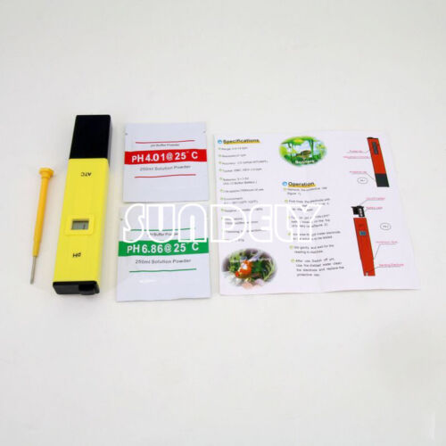 Electric Pocket Digital Ph Meter Tester Hydroponics Pen Aquarium Water Test NEW