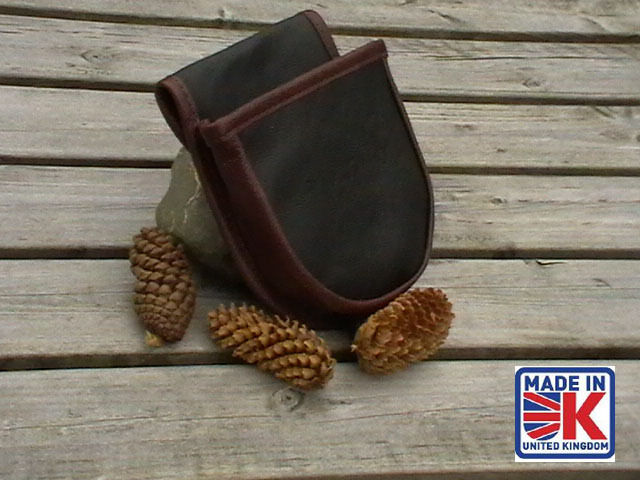 LEATHER SHOOTING CARTRIDGE BAG POUCH POUCH BAG CLAY PIGEON SKEET SHOOTERS SHOOTING BAG LRG a58297
