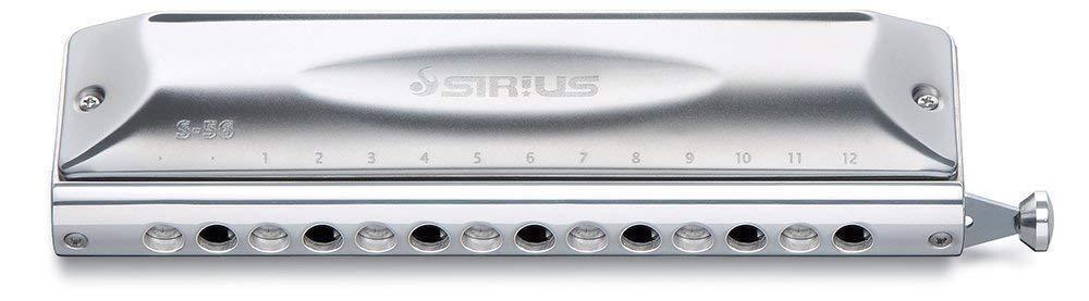 New   SUZUKI Chromatic Harmonica Sirius Series S-56C Long stroke from Japan