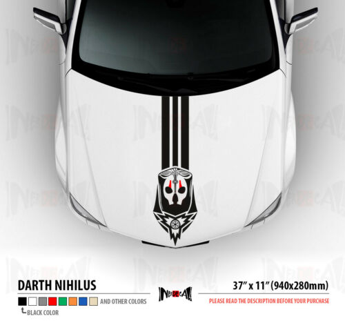 DARTH NIHILUS Stripes Star Wars Old Republic Dark Side Car Vinyl Sticker Decal