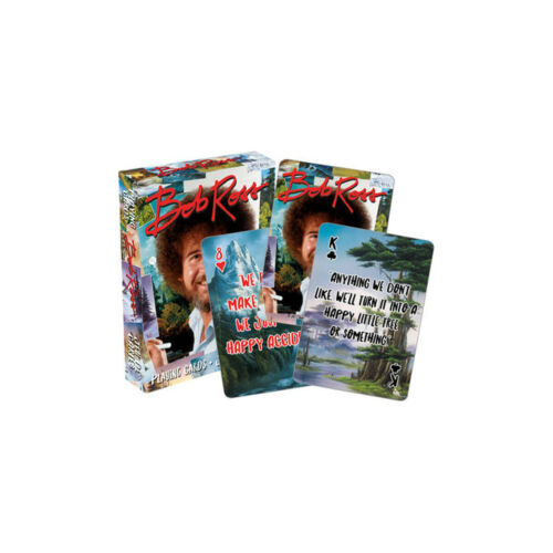 Bob Ross Playing Cards TV Television Joy of Painting Art Happy Little Trees Gift
