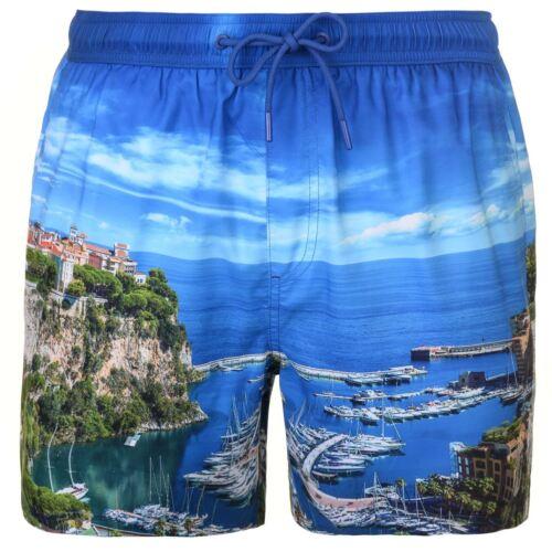 Da Uomo Blu PIERRE CARDIN MONACO Mesh foderato Nuotare Nuoto Pantaloncini Spiaggia Surf