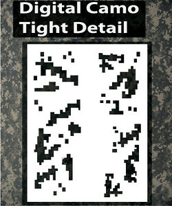 Image Is Loading Airbrush Stencil Camo Digital Camouflage Template Stencils Spray