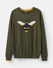 Joules 207484 Festive Intarsia Jumper in GREEN BEE