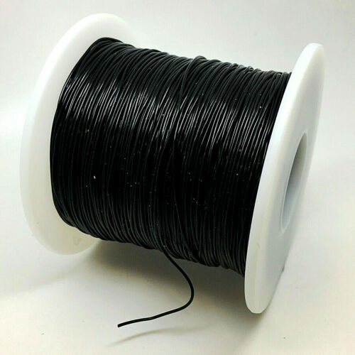 150m WHOLESALE reel 0.8mm Black Crystal cord stretchy silicone beading elastic