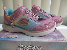 New Girl/'s Youth Skechers 81290 Quick Kicks Shimmer Dance Sneaker Blk R7