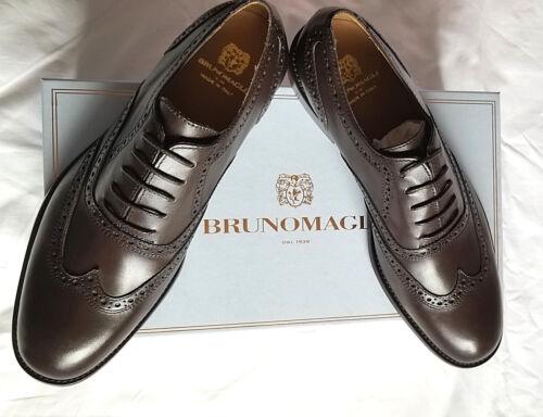Cuir Hommes Brogue Eu44 En Bruno Magli 5 te De Bo Taille Us11 Chaussures Marron 10 Neuf YxqtpxF