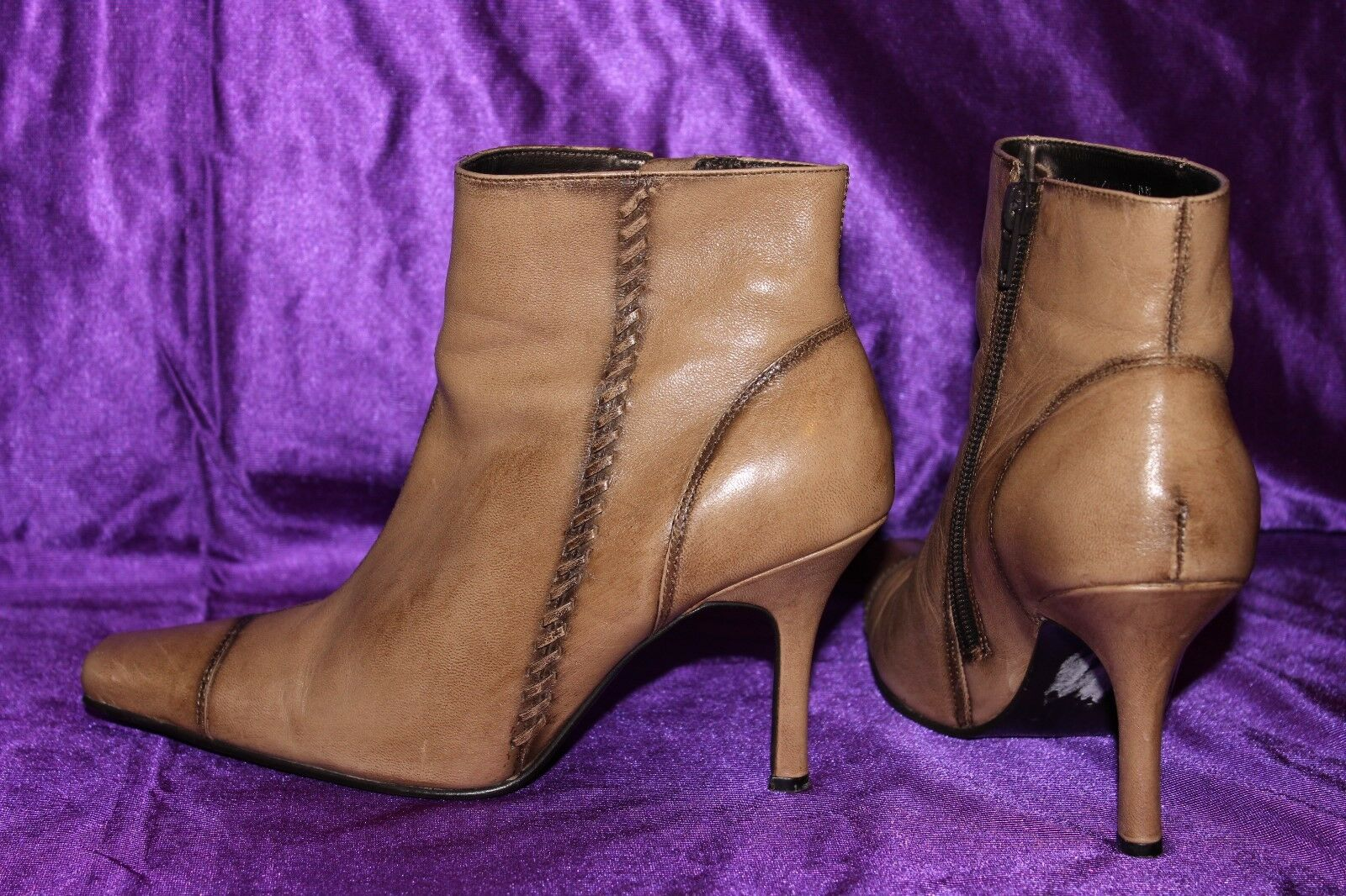 DOROTHY PERKINS Genuine Leather Ladies Ankle Boots Shoes Heels size 5