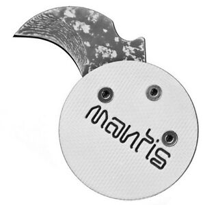 Mantis-Civilianaire-knife-White-ANGEL-coin-poker-chip-Stainless-Damascus-MCK-2