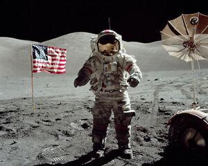 Astronauts Apollo 17 Eugene Cernan Lunar Surface 11x14 Silver Halide Photo Print