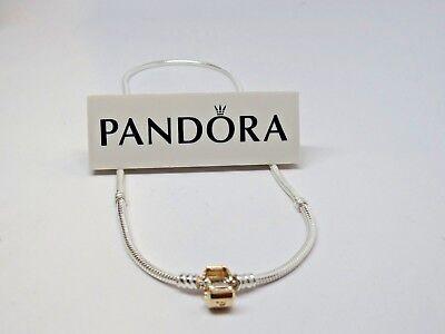 New Pandora 14Kt GOLD Clasp 45 CM Silver 17.8