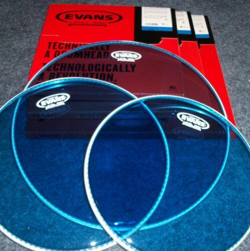 12-13-16 LEVEL 360 Evans BLUE Hydraulic Drum Head PACK