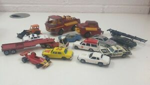 Vintage-Job-Lot-Toy-Cars-Bundle-Trucks-Engines-Corgi-Qualitoys-Collectable-mixed