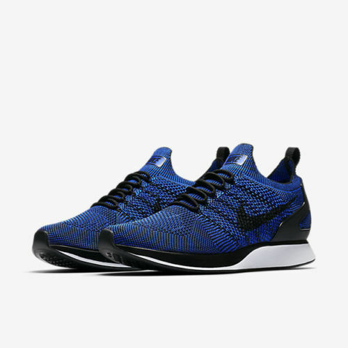 Nike Air Zoom Mariah Flyknit Racer Running Black Racer bluee White 918264 007