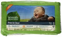 Lot Of 4--seventh Generation Free & Clear Diapers - Size 1 - 40 Ct