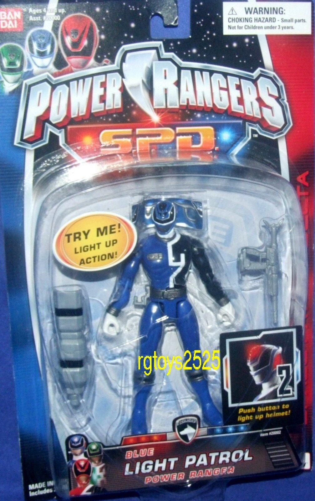 Power Rangers SPD Light Patrol 5  blu Ranger Factory Sealed New 2004