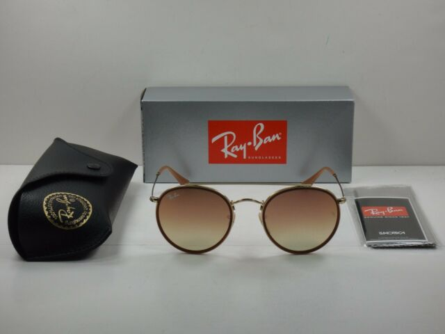Ray-Ban Round Double Bridge Gold Frame Copper Pink Flash Lens Rb3647n 001 7o 86c7fd1cca