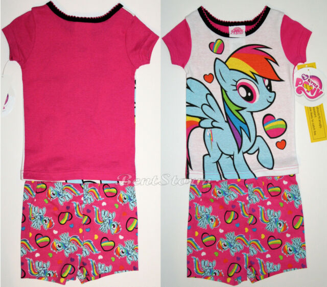 ec4741b3e136d NEW MY LITTLE PONY Pajamas 2PC Short Sleeve PJS Rainbow Dash Baby 18 Months  NWT